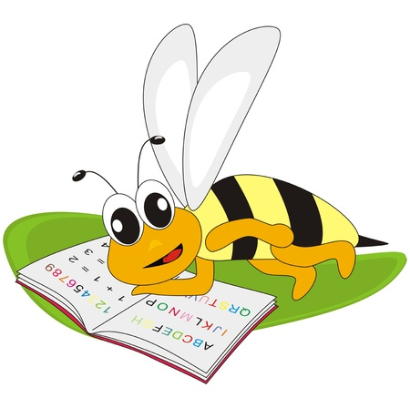 bee and spelling-book