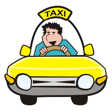 chap: man in the car-taxi
