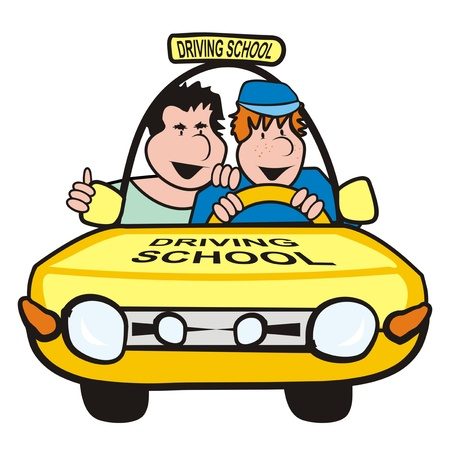 autoscuola: l'uomo nella scuola car-guida Vettoriali