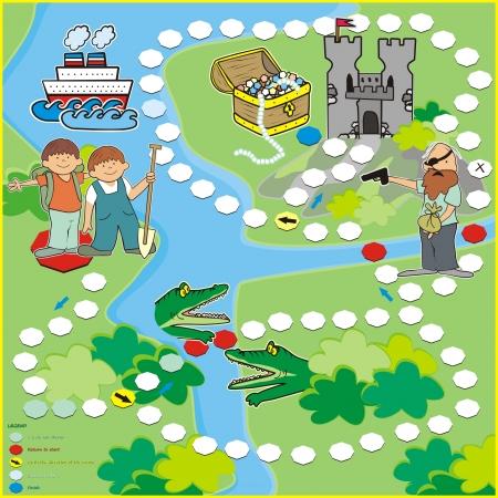 bebe a bordo: juego b�squeda del tesoro Vectores