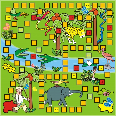 table surface: Game - tropic Illustration