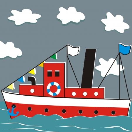 steamer and ocean