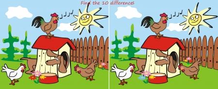 ダックスフンド - 10 の違いを見つける