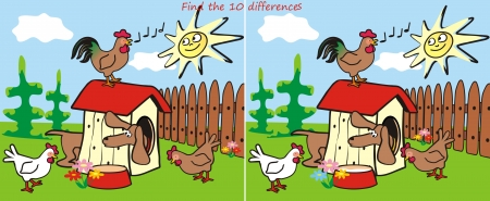 differences: Find 10 differences - dachshund