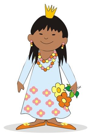 damsel: african girl Illustration