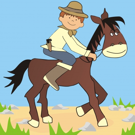 cavalryman: horse and cowboy
