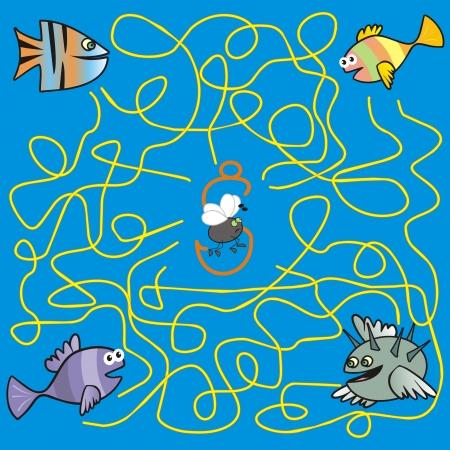 puzzlement: maze - fish