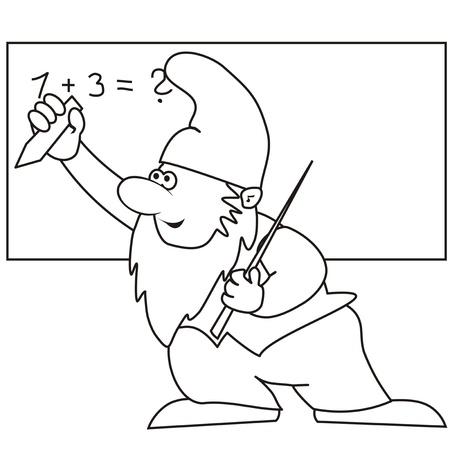 pygmy: dwarf - professor, coloring