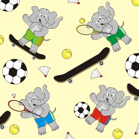 Elephant-sports-background Vector