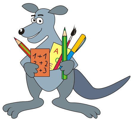 Kangaroo goes to School