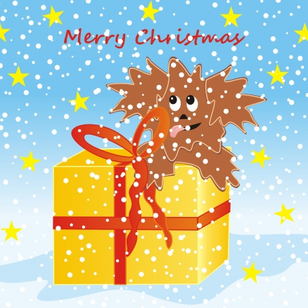 puppy and christmas gift Stock Vector - 21420531