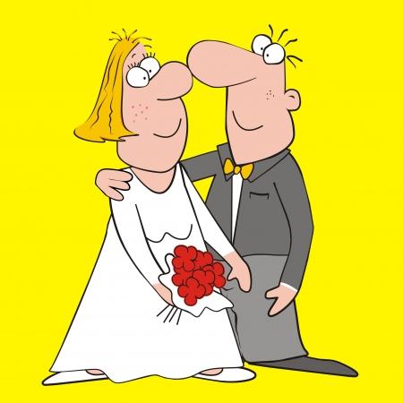 truelove: sposa e lo sposo Vettoriali