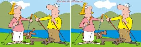 10 differences - hiker Vector