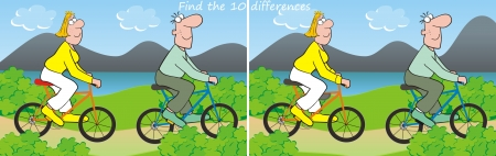 conundrum: 10 differences-bicycle