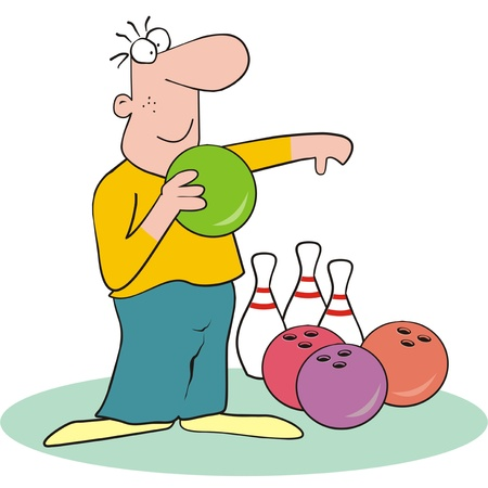 skittle: figure-bowling Illustration
