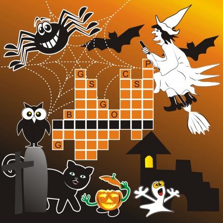 puzzle - halloween Vector