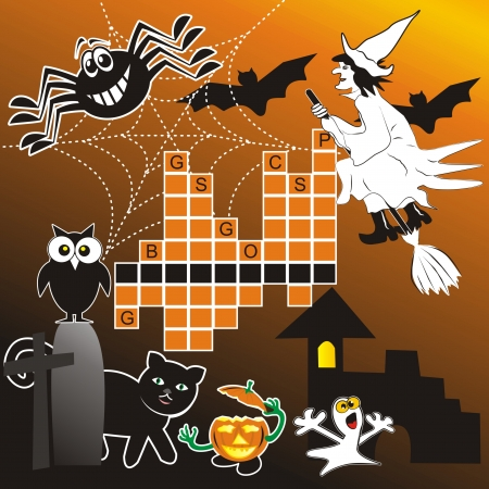 whisk broom: puzzle - halloween