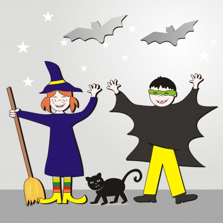 whisk broom: Halloween - kids