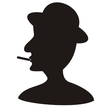흡연자: 남자 - 흡연자 일러스트