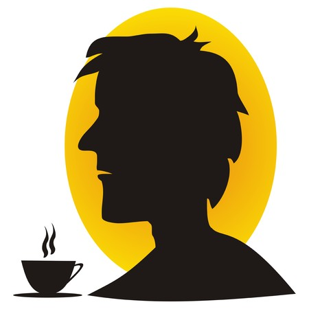 man and coffee Vector