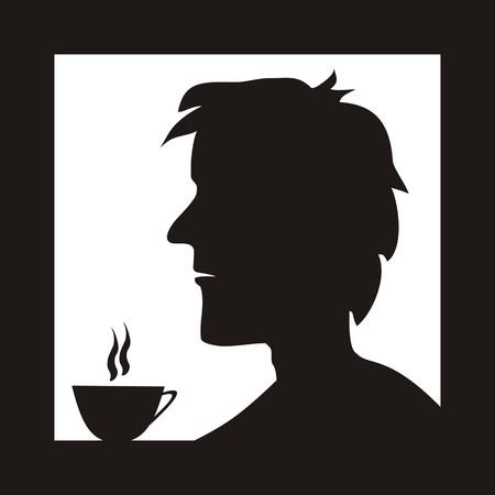 tearoom: man in cofe