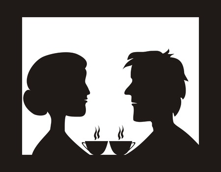 tearoom: Couple in cafe