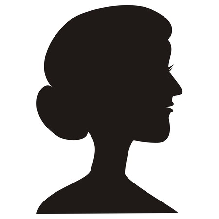 damsel: lady - silhouette