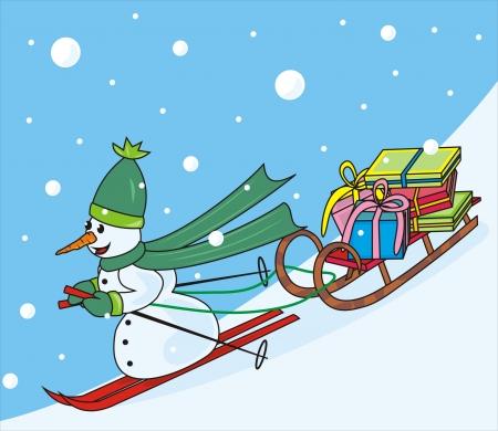 cold pack: snowman Illustration