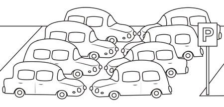 car - coloring book Vector