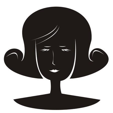 cilia: lady - portrait Illustration
