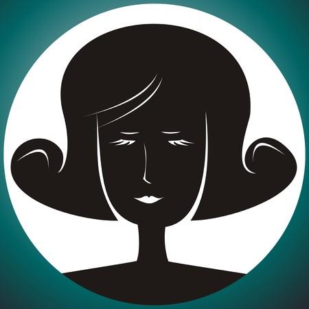 damsel: lady - portrait Illustration