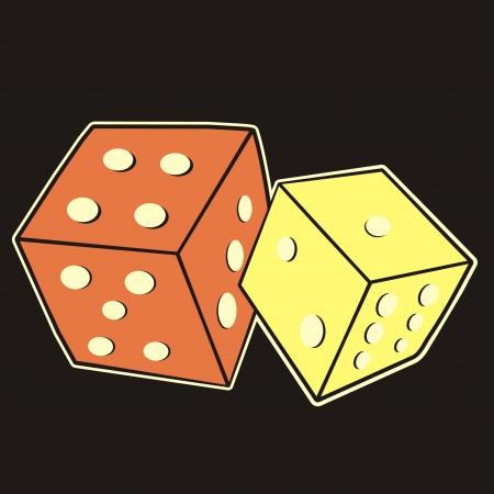 tessera: cube Illustration