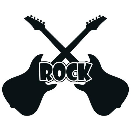 concerto: guitar - rock Illustration