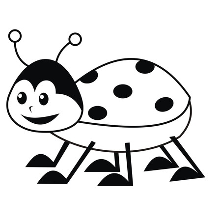 book case: ladybug - coloring book Illustration