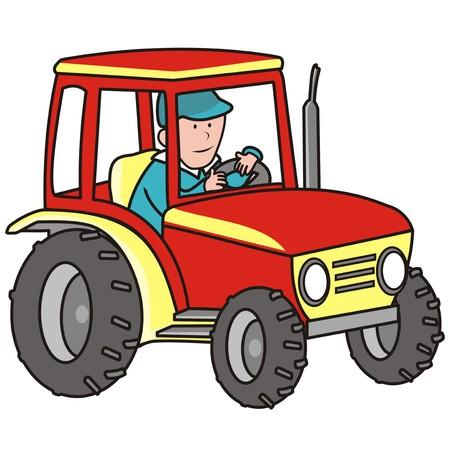 tillage: trattore Vettoriali