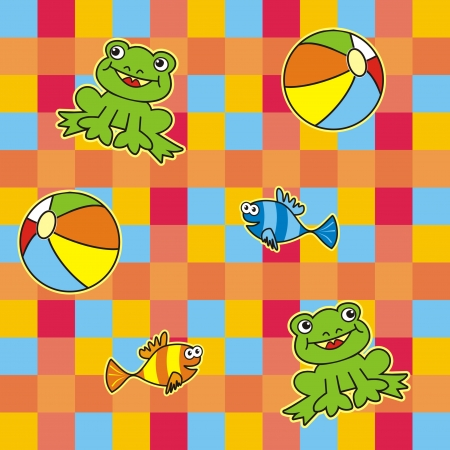 background - frog Vector
