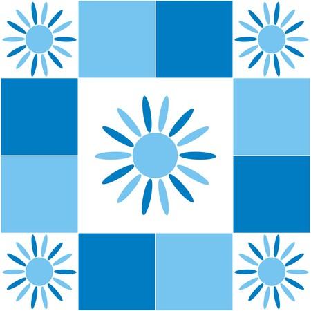 tessera: background - blue dice Illustration