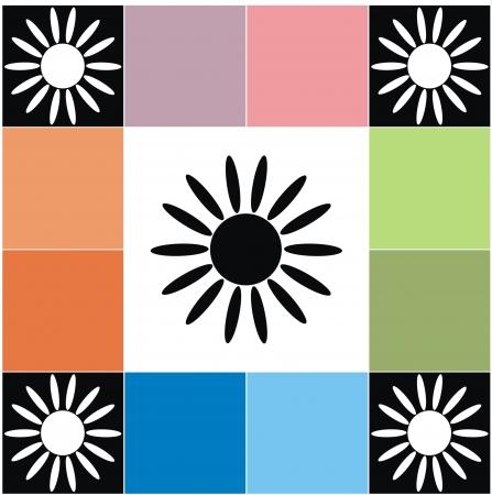 matting: background - dice and sun Illustration