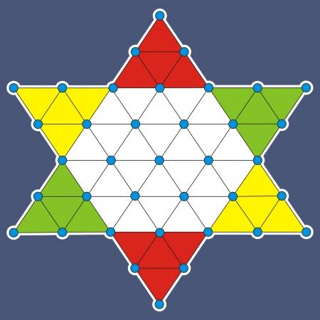 puzzlement: Halma board game Illustration