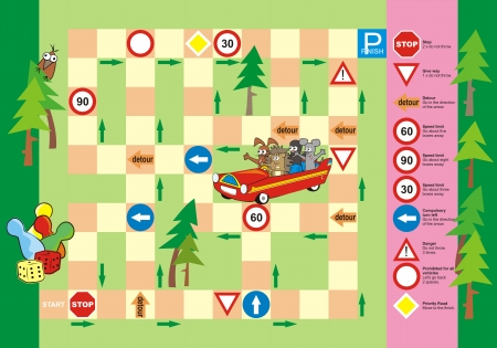 maze game: game - traffic sign Illustration
