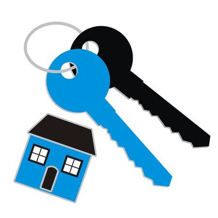 lock up: keys and pendant  Illustration