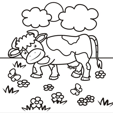 udder: cow - coloring book