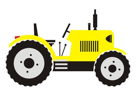 yellow tractor: tractor amarillo