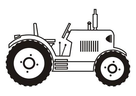 tillage: tractor - colorear