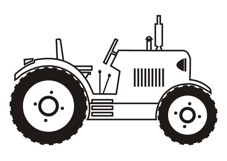 tillage: tractor - coloring