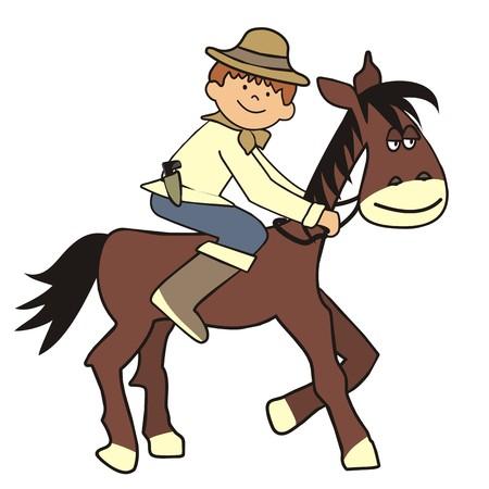 cavalryman: caballo y el muchacho