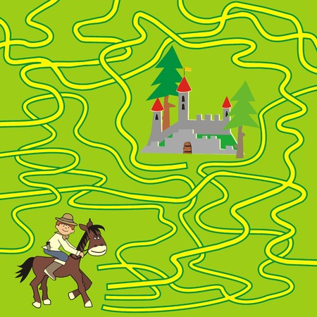 puzzlement: game of labyrinth  Illustration