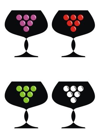 wine - goblet Vector