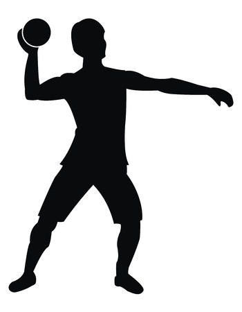 salubrity: handball athlete Illustration