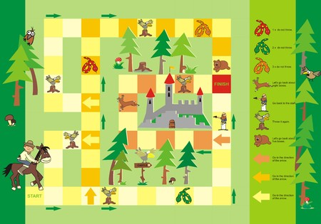 game-way to the castle  Vector